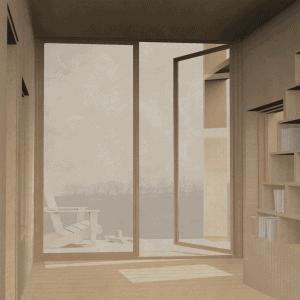 Visualization, writing cabin