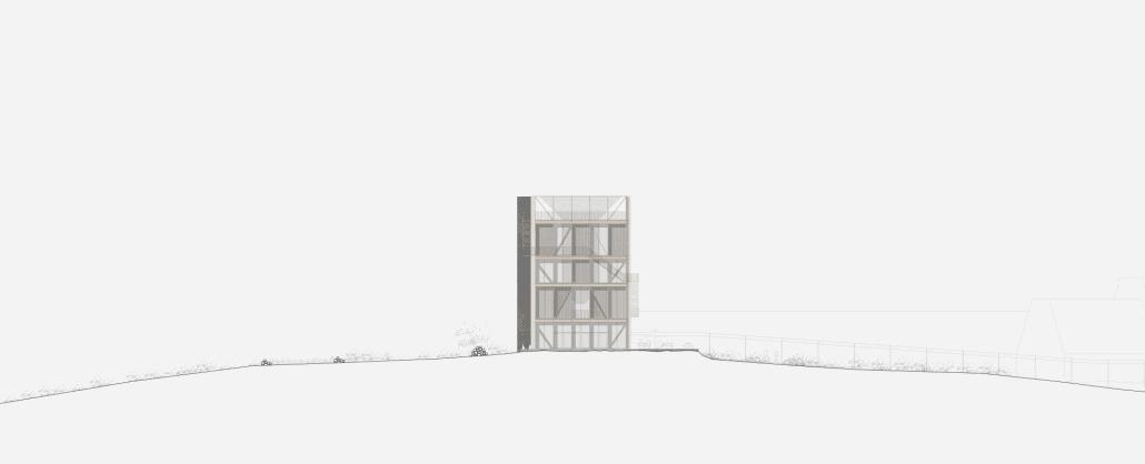 Book tower facade 1:100